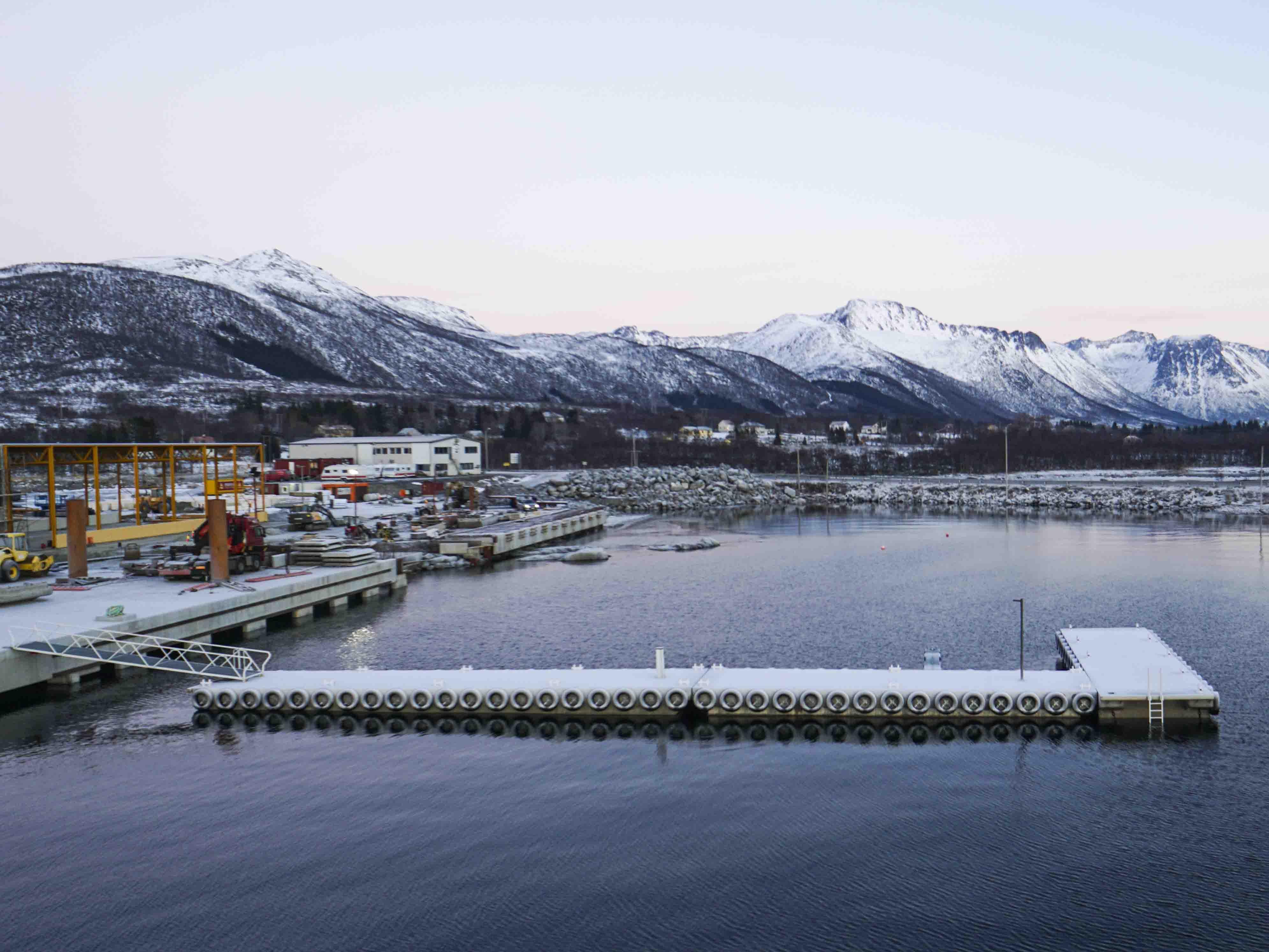 Lokalitetsbrygge for oppdrettsbåter